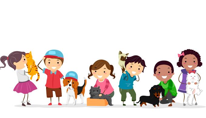 Conheça os benefícios dos pets para as crianças